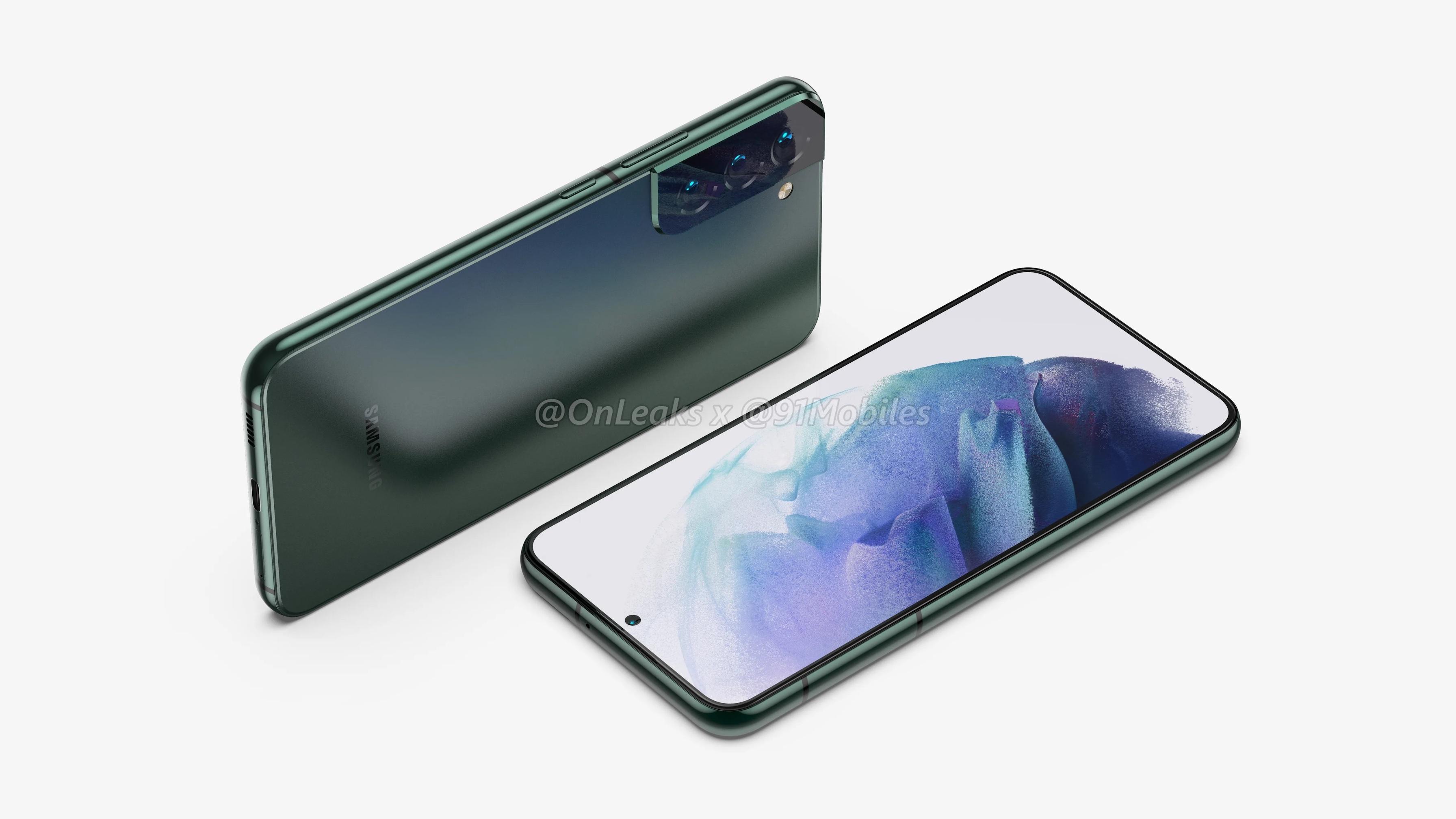 В Сети появились рендеры Samsung Galaxy S22 и Galaxy S22 Pro